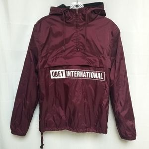 Obey International Purple Quarter Zip Pullover S